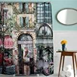 180x200cm Vintage Old Street Waterproof ...