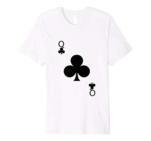 Königin der Verein Hemd Halloween Kostüm Spielkarte T Shirts