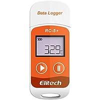 Elitech RC-5+ Registrador de Datos de Temperatura-generación automática PDF-32000 puntos-Reutilizable-Protección de contraseña-No necesita software-Rango de temperatura: -30°C a +70°C