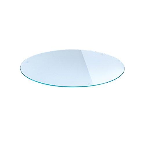 Plateau en verre rond, diamètre 70 cm