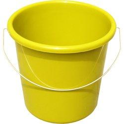 TEKO Kunststoff Haushalt Eimer mit Metall Halterung, gelb, 30x 22,5x - Metall-krug Mit Deckel