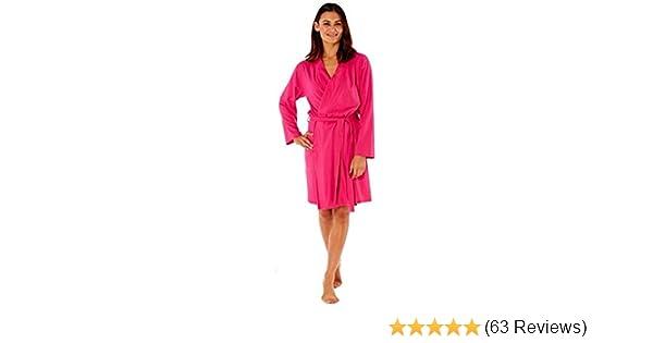 Best Deals Direct UK Ladies Dressing Gown Summer Cotton Lightweight ...