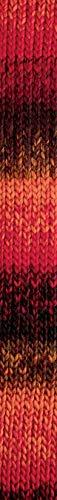 Katia Neuheit Herbst/Winter 2018!!! 100g Namaste - Farbe 303 Rot/Schwarz/Grau - Ein Dickes, Weiches Garn aus 100% Polyacryl in lebendigen und melierten Farben (Garn Melierten Grau)