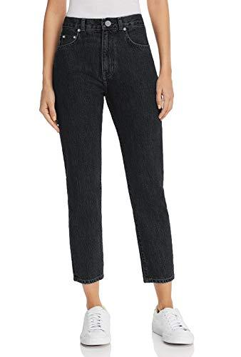 Mom jeans donna a vita alta boyfriend stile loose cropped pantaloni casual in denim moda vintage classica nero slavato it 50