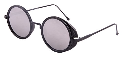 Sacchi Dukan Scratch Resistant Round Unisex Sunglasses - (SD019|51|Grey)