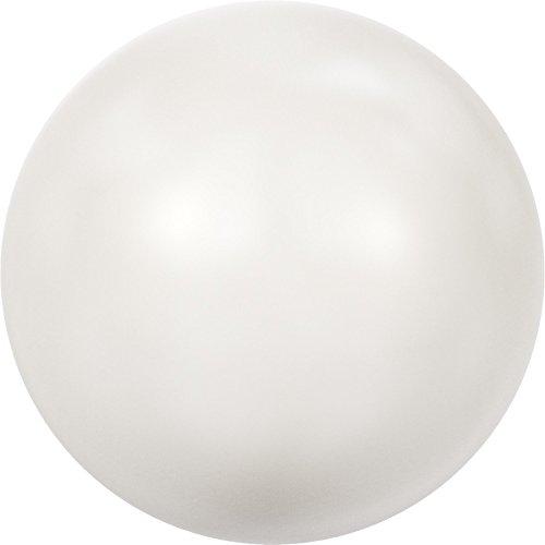 6mm Swarovski-Kristall Perle Weiß, 100Stück