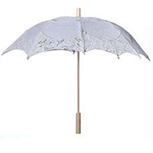 iBaste Sonnenschirm Spitze, Spitze Sonnenschirm Regenschirm für Braut Brautjungfer Hochzeit Fotografie ()