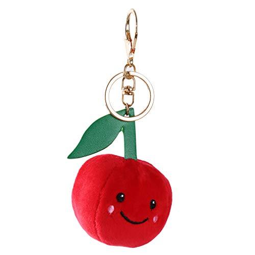 ms Ball Schlüsselanhänger Tasche Smiley Ausdruck Anhänger Schlüsselanhänger Mode Handtasche Tasche Autoschlüssel Dekoration, Apple ()