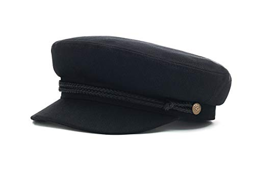 Brixton Cap FIDDLER  black herringbone twilL L BRIMCAPFID
