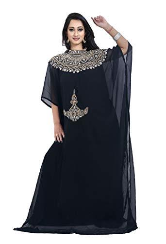 The Fabric Station: Dubai Middle East Bollywood - Vestido de Estilo Informal para Fiesta, Noche, Playa, diseño n.º 3