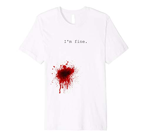I\'m Fine - Flesh Wound Halloween T-Shirt