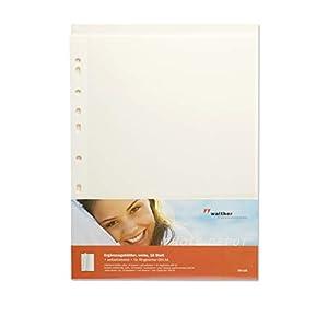 walther DS-118 Fotoblätter selbstklebend weiß 50 Blatt - Fotokarton Ergänzungsblätter