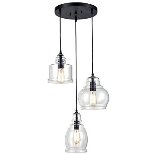 Drei Licht-insel Kronleuchter (Vintage Küche Linear Insel Kronleuchter Anhänger Beleuchtung-3 Lichter)