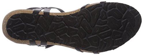 Panama Jack Dori B22, Sandales Compensées Femme Noir (negro / Black)