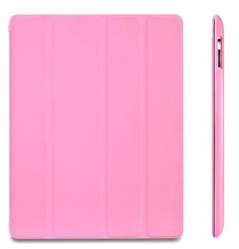 JETech Hülle für Apple iPad 4, iPad 3 & iPad 2, Schutzhülle mit Ständer Funktion & Auto Schlaf / Wachen, Rosa