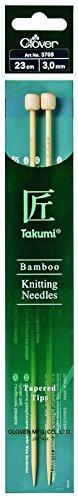 Clover 3705 Bambus-Jackennadeln Takumi 23 cm, 3,00 mm - Clover-stricknadeln Takumi