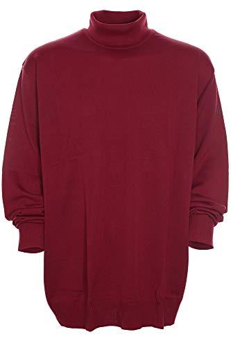 Maerz Rollkragen Pullover Pulli Rolli Wolle Merino Superwash Herren Plusgröße, Farbe:rot, Herrengrößen:62