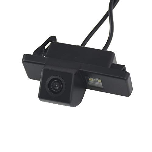 Rückfahrkamera wasserdicht Nachtsicht Auto Rückansicht Kamera Einparkhilfe Rückfahrsystem, Kennzeichenleuchte (Schwarz) für Nissan Qashqai J10 J13 X-Trail Geniss Pathfinder Dualis Sunny Juke