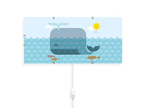 YOURDEA - Kinderzimmer Wechsel Bild für IKEA GYLLEN Wandlampe 56cm mit Motiv: Schlafender Wal