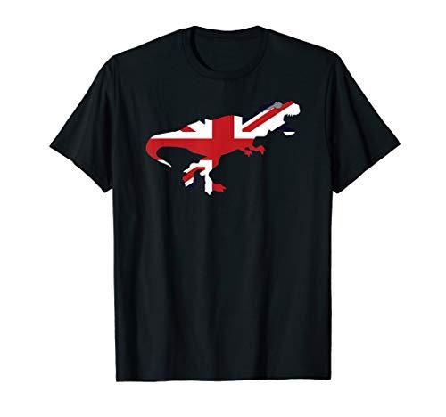 Union Jack-Sonnenbrille T-Rex Dino British Flag T-Shirt