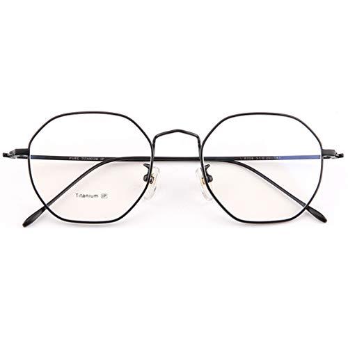 Anti-Glare Anti-Fatigue,Beobachten Sie mobile Brillen,Advanced Lesung Gaming Brille,Glasses Anti Blue Light,Polygonaler Brillenrahmen aus reinem Titan, flacher Spiegel aus Titan, 3 Farben,Entlastung d