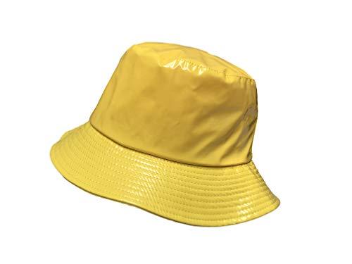 TOUTACOO, Regenhut, Wasserdicht, Wachstuch-Optik 07-Gelb (Regen Hut)