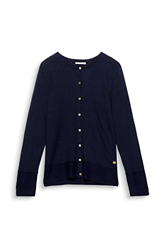 edc by Esprit, Cardigan Donna Blu (Navy 400)