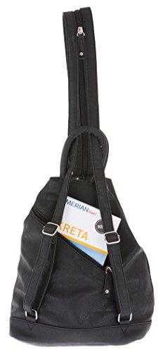 ALESSANDRO Femme Bag Handtasche Rucksack Damentasche + Schlüßelmäppchen (TIRANO Black 6) - 7