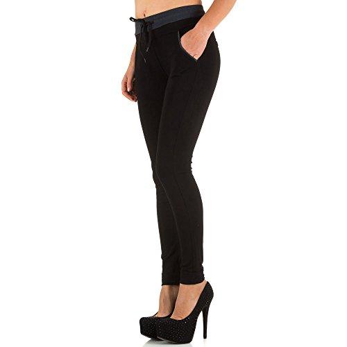 High Waist Treggings Skinny Hose Für Damen bei Ital-Design Schwarz