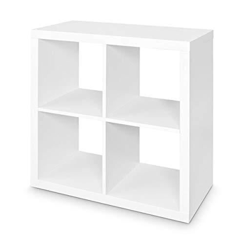 LOFT Regal mit 4 Fächern Bücherregal Wohnzimmer Schlafzimmer Lounge Cube Wandregal kombinierbar Weiß