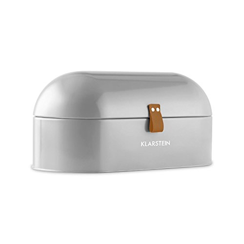 Klarstein Ciabatta Argentea 2 Boîte à pain (design rétro, 14.5L, boîtier métallique, facile á ranger, poids : env. 1,4 kg ) - argent