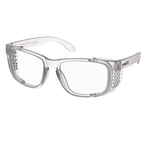 voltX 'Crystal' Sicherheitsleser, Vollverglaste Sicherheitsbrille (1,5 Dioptrie, klare Linse)-LESERSCHUTZBRILLE, UV400-Linse