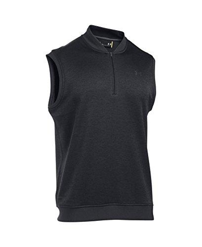31iZ2tPBtkL - Under Armour 2017 Golf Sweater Fleece Vest Zip Neck Tank Top Mens Slipover Asphalt Heather Small