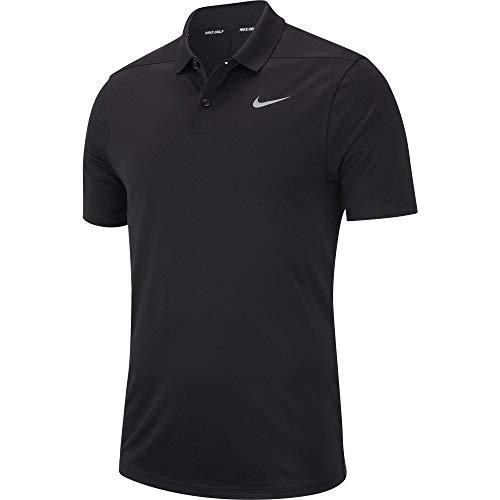 Nike Herren Dry Victory Poloshirt, Schwarz (Black/(Flat Silver), M -