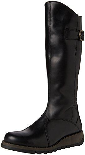 FLY London, Damen Mol 2 Warm Langschaft Stiefel Schwarz (BLACK 000Black 000)