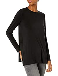 Marca Amazon - Daily Ritual Long-Sleeve Tunic Sweater with Side Slits Mujer