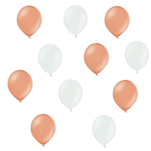 Twist4 50 Premium Luftballons in Rose Gold / Weiß - Made in EU - 100{91358563980aad1394ea5b829604a9a8412bfffa3a8e8144d5b80ca6f9621071} Naturlatex somit 100{91358563980aad1394ea5b829604a9a8412bfffa3a8e8144d5b80ca6f9621071} giftfrei und 100{91358563980aad1394ea5b829604a9a8412bfffa3a8e8144d5b80ca6f9621071} biologisch abbaubar - Geburtstag Party Hochzeit - für Helium geeignet