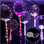Transparent LED Balloon Air Balloon 3 M 30pcs Leds Light Up Lasts 72 Hours Festival Atmosphere Romantic Round Shape Bubble Colorful Luminous Glowing Light String New Year Halloween Christmas Party