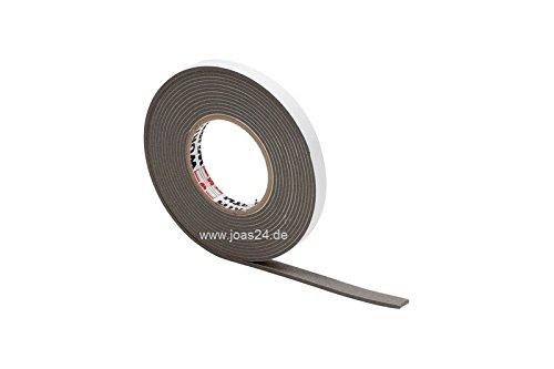 Kompriband Quellband | 20mm | 12-20mm | 6,5m | Grau | BG2 | DIN18542 | Schlagregendicht