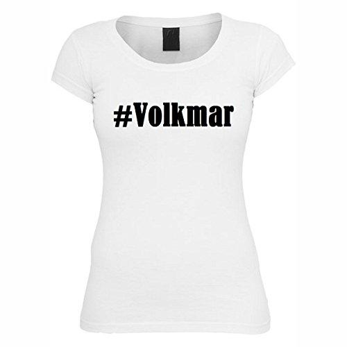 T-Shirt #Volkmar Hashtag Raute für Damen Herren und Kinder ... in den Farben Schwarz und Weiss Weiß