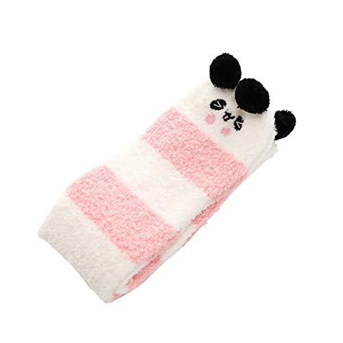dce3b5d91f3946 AMOSFUN Winter Thicken Soft Fluffy Slipper Socks Fuzzy Cute Animals Warm  Microfiber Room Socks for Women