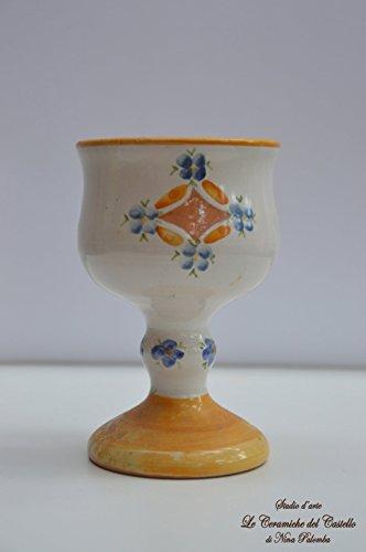 Coppa Vino - Linea Fiori Arancio/Blu