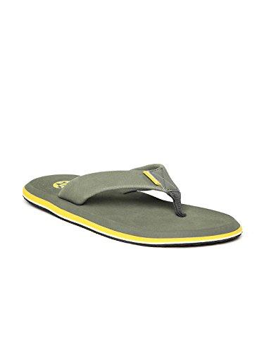 Woodland Proplanet Men Olive Yellow Flip-flops