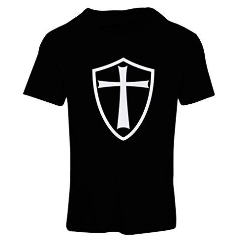 Frauen T-Shirt Ritter Templer - Die Templer Schild Christian Ritter Ordnung Schwarz Weiß