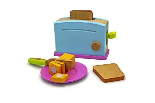 juguete de madera Juego de tostadora
