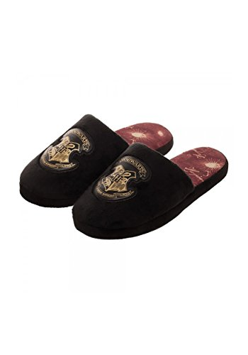 Harry Potter Hogwarts Zapatillas de Felpa Zapatillas Negras Cresta - 3
