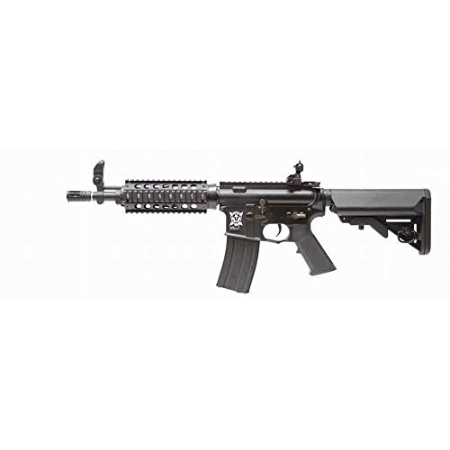 APS Airsoft M4 RIS CQB Full Metal Gearbox Cablage Argent Hybrid Full Métal ASR403 (0.5 Joule)