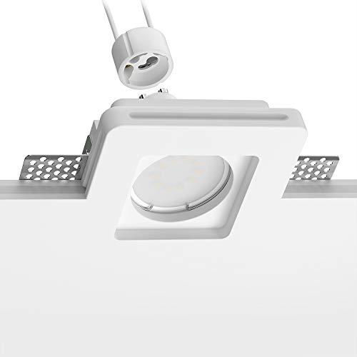 ledscom.de LED Yeso Foco empotrables GIEDI II DIY, Incluido GU10 Bombilla 340lm,...
