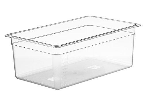 LIPAVI Cubeta sous vide modelo C20 - 25 litros | 53,3 x 32,5 x 20 cm | Policarbonato transparente y fuerte. Tapas a juego para Anova, Wankel y más. Rejilla de LIPAVI: modelo L15 / L20