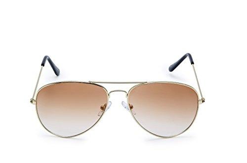 Howdy Men\'s Aviator Sunglasses (Brown)